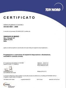 Certificazioni Sinigaglia Mario